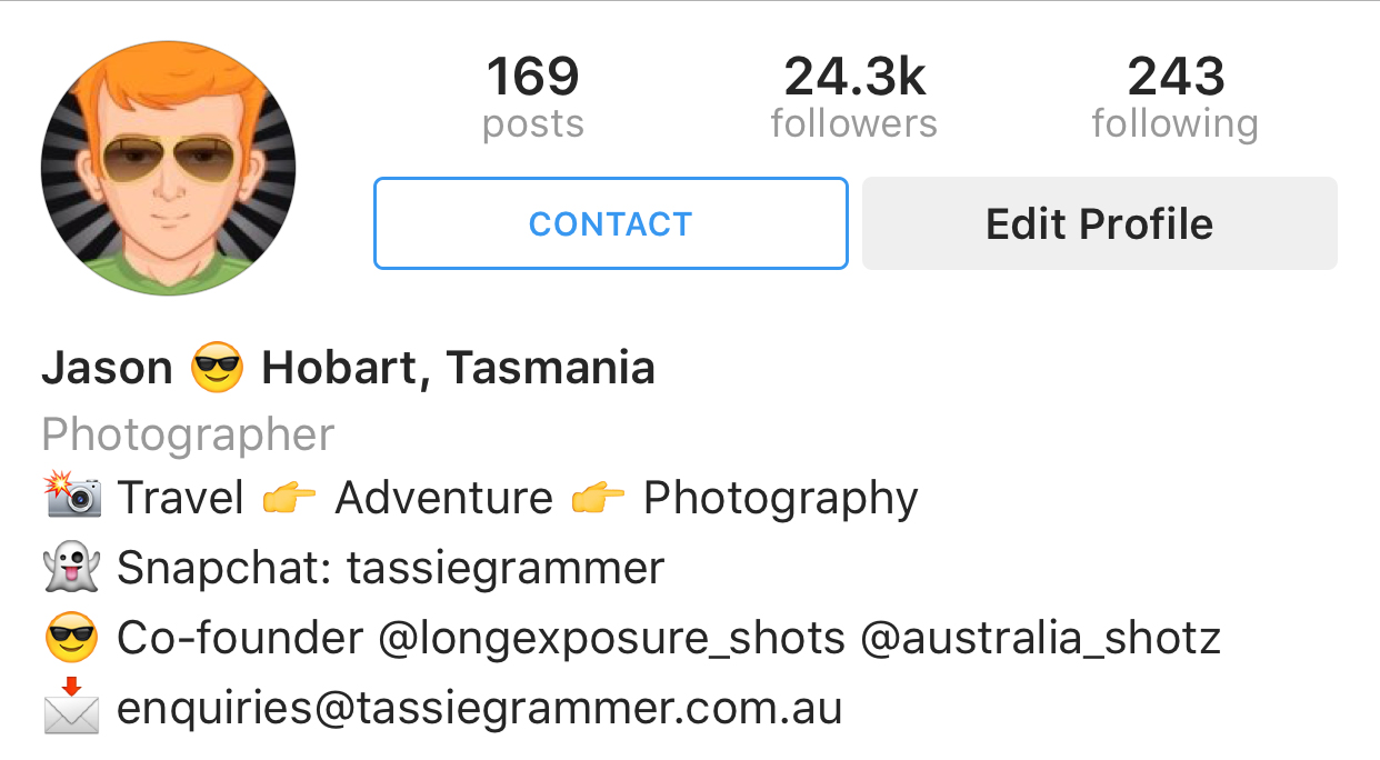 Tassiegrammer Instagram Business Accounts